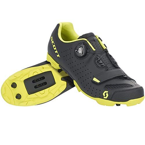 Scott MTB Comp Boa 2020 - Zapatillas de ciclismo, color negro y amarillo, Hombre, MtbCompBoa, Color negro mate Sulphur amarillo., 47