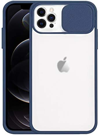 Jusy Frosted Case Compatible with iPhone 12 Pro Max Case with Slide Camera Lens Protection Cover product image