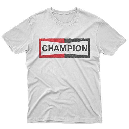 fm10 t-Shirt Maglietta Champion Hollywood Brad Pitt Regalo Gift Cinema (L/Uomo)
