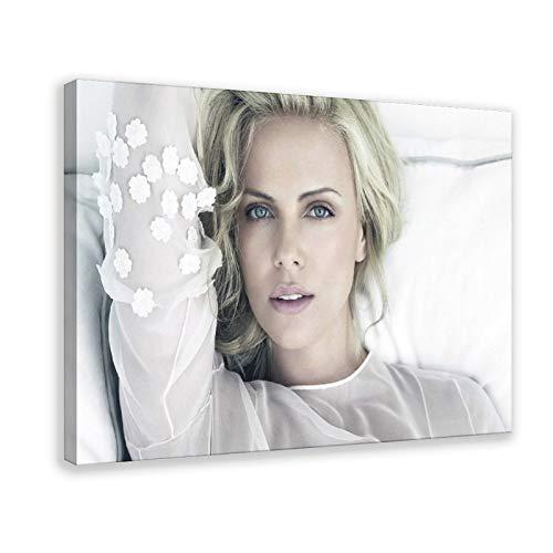 Póster de Charlize Theron con estrellas femeninas y sexys de arte protagonizado por el productor de regalo, 14, lienzo para decoración de pared, para sala de estar, dormitorio, 60 x 90 cm, Fram