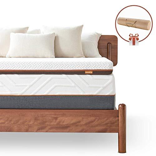 90x190cm Soft Bed Topper for Sofa or Mattress,100-Night Risk Free Trail Inofia 8CM Memory Foam Mattress Topper,Gel Mattress Topper with Washable /& Removable Cover