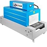BestEquip Heat Shrink Machine, 17.7 x 13.8in Shrink Tunnel Machine, 8000W Heat Shrink Packaging Machine, Mesh Type BS4535 8KG Load Capacity 45 x 35CM Heat Tunnel Wrapping Machine 220V For PVC/PP/PE