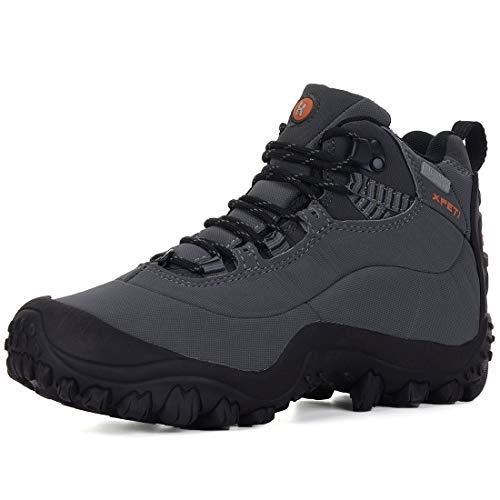 Zapatillas Senderismo de Mujer,XPETI Zapatos al Aire Botas Montaña Impermeables Mujer Libre Trekking Trail Calzado Alpinismo Escalada Altas Invierno Bajas Seguridad Gris 42