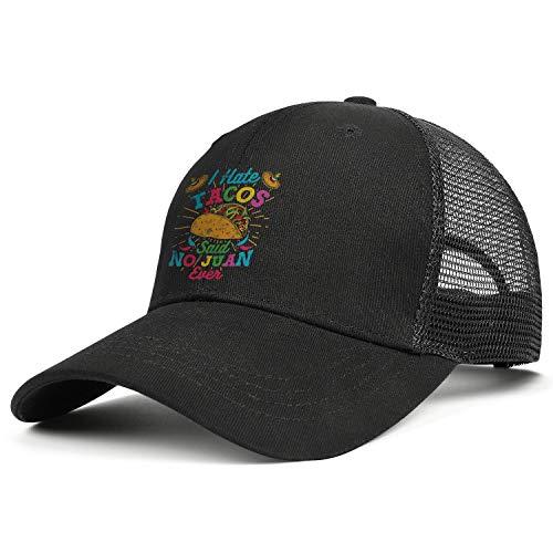 Cool Baseball Hat Taco-Tuesday-I-Hate-Tacos-Said-No-Juan-Ever- Adjustable Unisex Visor Cap