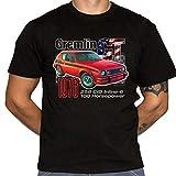 Dark Vortex AMC Gremlin GT Playera – Defunct Car Fabricante – Humor – 100% algodón Gildan Marca Negra Camisa, Negro, XXX-Large