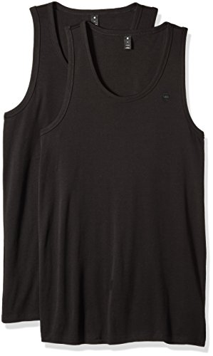 G-STAR RAW Herren Base Tank T 2-Pack Pullunder, Schwarz (Black 990), X-Large