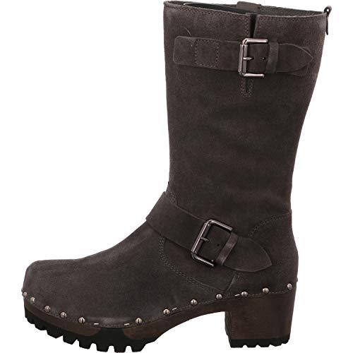 Softclox Damen Stiefel 3450-02 grau 566536