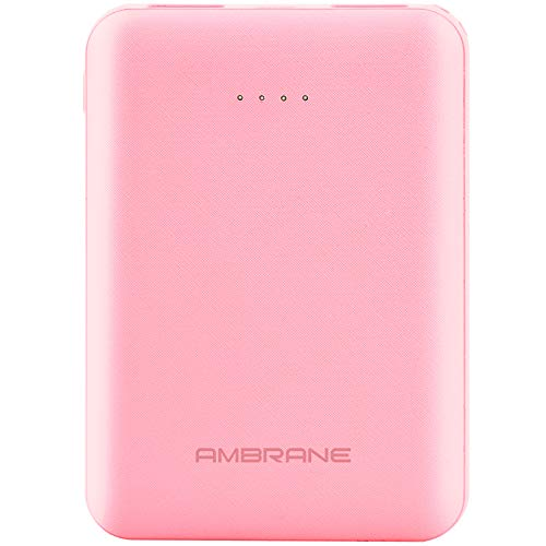 Ambrane India PP-501 5000 mAh Lithium Polymer Power Bank (Pink)