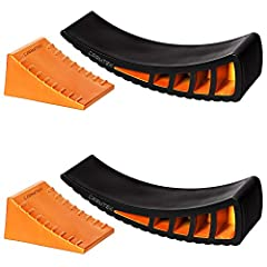 ✔ ANTI-SLIP JOINTING SYSTEM: Carmtek engineers have developed a special jointing system with precise grip channels on the surface of the levelers to prevent levelers from sliding when backing the camper tire onto the levelers. ✔ HEAVY-DUTY CONSTRUCTI...