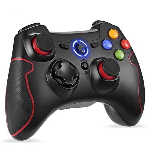 GamepadsPCアンドロイドテレビボックス電話PS3に適したPC小米科技ミテレビボックスSゲームコントローラゲームコントローラ、適しEasySMXESM-9013ワイヤレスゲームコントローラージョイスティック、適しSuitableforallkindsofpeople(Color:Red)