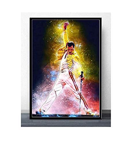 JYSHC Rompecabezas De 1000 Piezas Póster Freddie Mercury Rock Músico Comics Bohemian Rhapsody Artfor Adultos Juegos Juguetes Educativos Km94Yz