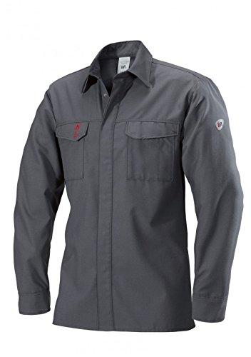 BP 2403-825-53-44/46n Shirt, Verdecktes Druckknopfband und Taschen, 160,00 g/m², dunkelgrau ,44/46n