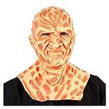 WWWL Mascara de Halloween Freddy Krueger Mask Movie Halloween Una Pesadilla en ELM Street Terror Party Cosplay Disfraz Props Horror Latex Hature (Color : X24005, Size : M)