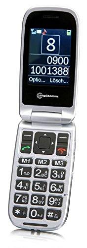 amplicomms PowerTel M7510-3G Tlefono mobile, DUAL SIM, Clamshell, 6.1 cm (2.4'), 3 MP, Bluetooth, 900 mAh, 102g, Nero