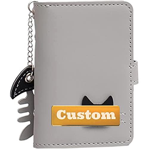 NANSHAN LEISUREBACKPACK++ Caja de la Tarjeta Delgada de Crédito de Cuero Personalizado Blocking RFID para una Caja de Tarjetas de Mujer de crédito de crédito, Facilitate Your Travel