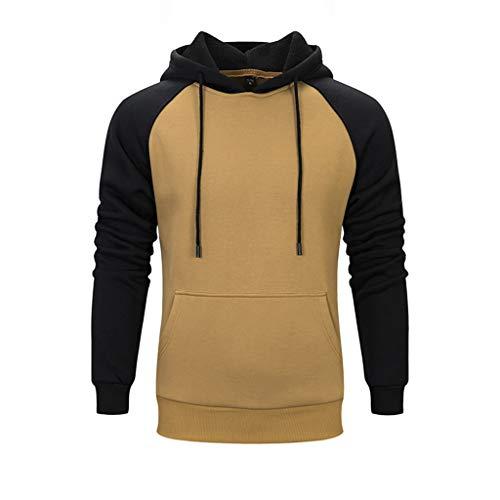 Damen Herren Paar Hoodie Kapuzenpullover Sweatjacke Sweatshirt Herbst und Winter Pocket Hooded Einfarbig Explosion Pullover CICIYONER