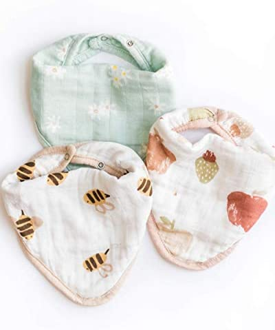 Nightingale Baby Bandana Bibs Super Soft Hypoallergenic Bamboo Muslin Drool Cloths Absorbent product image