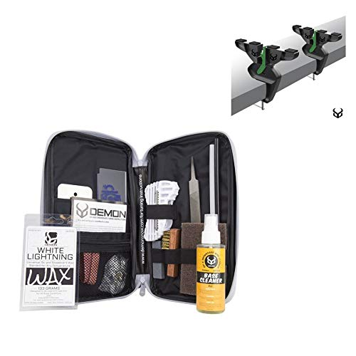 DEMON UNITED Mechanic Ski and Snowboard Tune Up Wax Kit with Universal Wax Includes Demon's Ultra Vise (with Slide Iron)