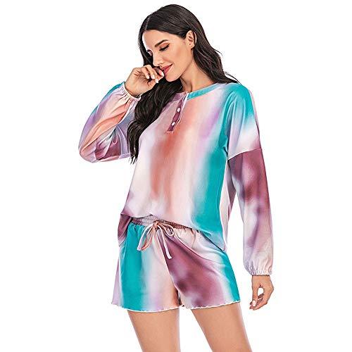 Clothing decoration Pijamas de Menopausia para Mujeres, SZRP Pantalones de Pijama Suaves y Acogedores de Verano para Mujeres, Pijama Marvel Tie-Dye Fashion para Mujer