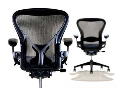 Aeron Chair by Herman Miller - Home Office Desk Task Chair Fully Loaded Highly Adjustable - Classic Dark Carbon Mesh PostureFit Lumbar Back Support Cushion Graphite Frame