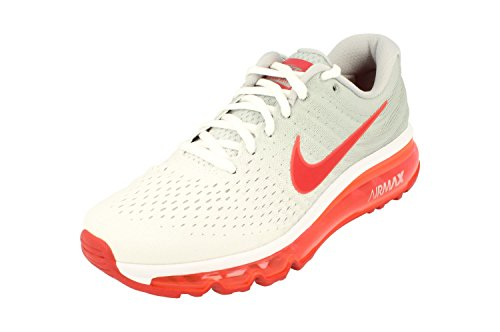 Nike Air Max 2017 GS Running Trainers 851622 Sneakers Shoes (UK 4 US 4.5Y EU 36.5, White Sport red Wolf Grey 101)