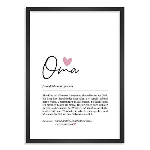 Himmelsflüsterer - Definition Poster & Kunstdrucke   Oma Geschenk   Wandbilder Wohnzimmer   Geschenke für Oma Geburtstag   Wanddeko Deko Wohnzimmer   DINA A5 ohne Rahmen