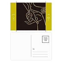 仏教の宗教は仏教の手のパターン 友人のポストカードセットサンクスカード郵送側20個