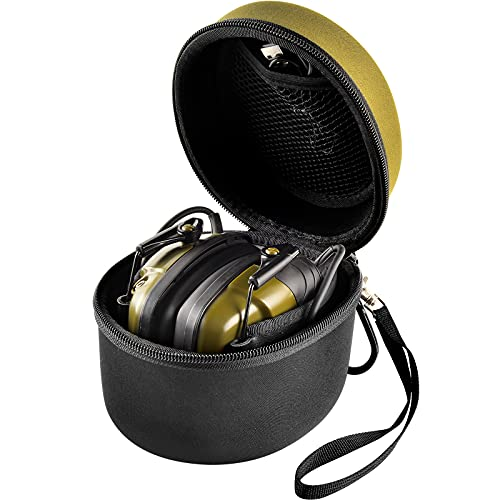 Comecase Travel Hard Case Tasche Hülle für 3M Peltor Sporttac Gehörschutz mt6h210f-478-gn/ Peltor Kid Kapselgehörschützer