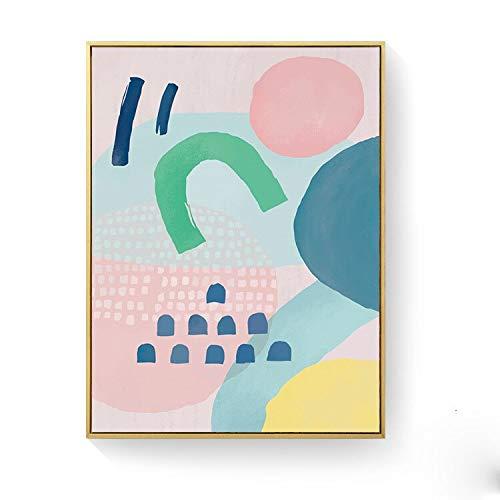 SDFSD Abstraktes kreatives Cartoon-Muster Grafische Dekoration Kindermalerei Kinderzimmer Kinderzimmer Wohnkultur Wandkunst Leinwand Malerei 40 * 60cm
