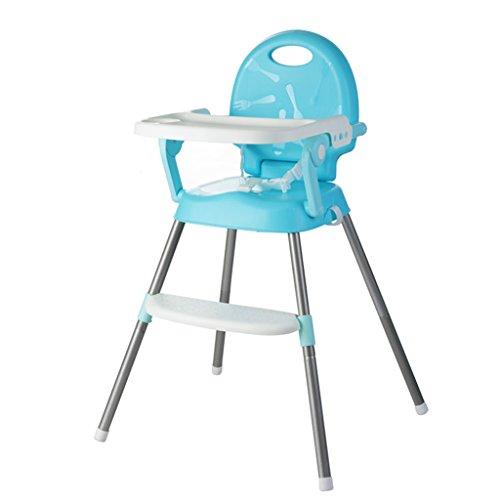 Chaise de bébé Siège pour Enfant Tabouret pour bébé Table et Chaise bébé Siège bébé Pliant Portable (Color : Blue, Size : 41cm*36cm*63.5cm)