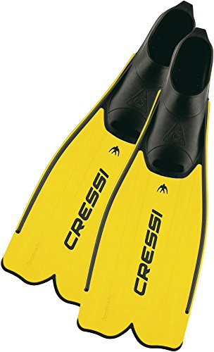 Cressi Adult Snorkeling Full Foot Pocket Fins | Good Thrust, Light Fin | Rondinella: designed and made in Italy