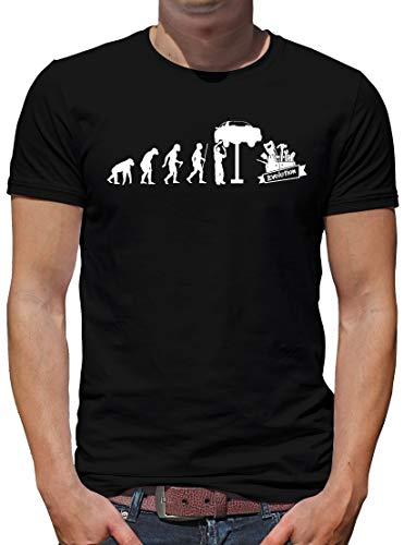 TShirt-People Evolution KFZ Mechaniker T-Shirt Herren Auto Monteur Handwerk XXL Schwarz