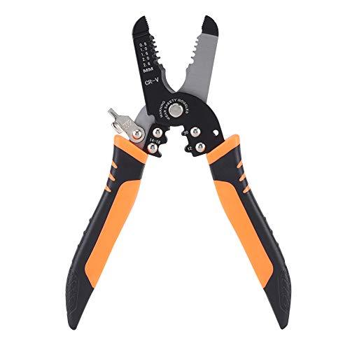 Alicates para pelar, alicates para pelar cables, alicates multifuncionales para electricistas, herramienta para pelar, diseño de mango profesional y artesanía refinada (175 mm)