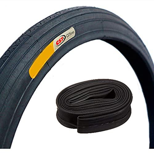LDFANG Neumático para Bicicleta 27X1 1/4, con cámara SV, Neumáticos para Bicicleta de montaña 27 Accesorios para Bicicleta