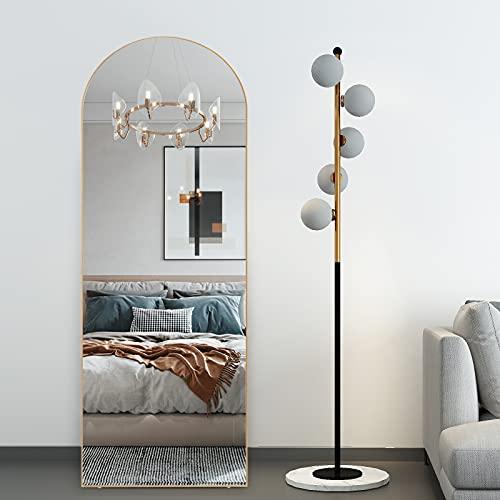 RACHMADES Full Length Mirror 65'x22', Arched Mirror, Floor...