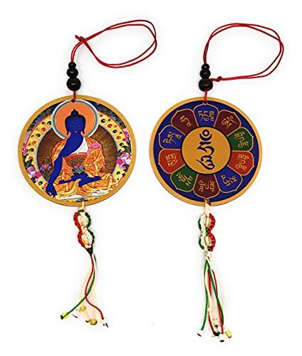 Tibetan Buddhist Medicine Buddha car Hanging/Door Hanging/Wall Hanging/Rear View Mirror Decoration/Wholesale Set of 2 Piece
