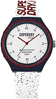 Superdry 'Urban XL Fleck' Quartz Plastic and Silicone Casual Watch, Color:White (Model: SYG227W)