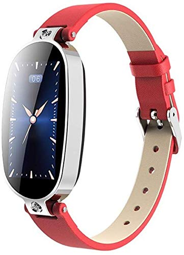 Qin~xiao Bluetooth Smart Uhren B79 Smart Watch Frauen PPG + EKG-Damen Smart-Armband Herzfrequenzmesser Blutdruck Call Reminder Smart-Armband Uhr für Männer Frauen Kinder (Color : B)