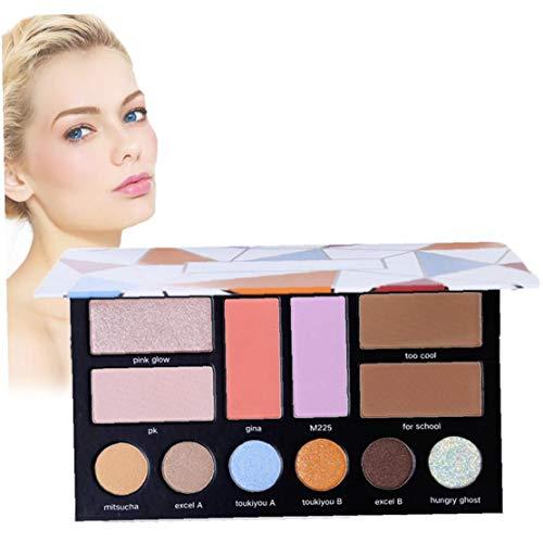 1pc 3d Maquillage Palette Maquillage Palette De Fard À Paupières Fard À Joues Maquillage Surligneur All-in-one Palette Conçu Pour Maquillage Artist B Disque