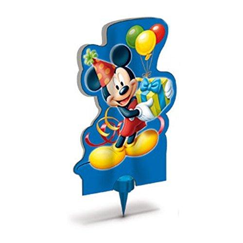 Dream' s Party Candela Luminosa Fontana Fiaccola Topolino Mickey Mouse & Friends - Magic Flambè per Torta e Dolci della Tuo Bambino