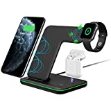 IDeal4you 3 in 1 Wireless Charging Station for Iwatch Airpods and iPhone,Fast Wireless Charging Dock Compatible with 11//11 Pro Max//X//XS//XR//Xs Max//8//8