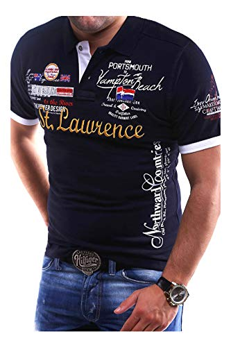 MT Styles Poloshirt Lawrence T-Shirt MP-301 [Dunkelblau, XL]