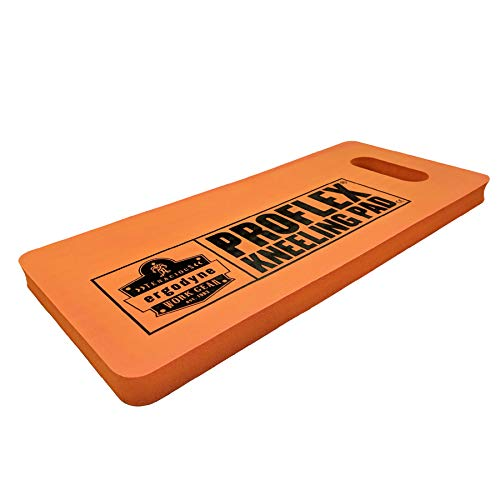 Ergodyne Proflex 375 Pad, Foam Knee Cushion, Water Resistant Kneeling Mat, 8' x 18' x 1', Orange, Compact