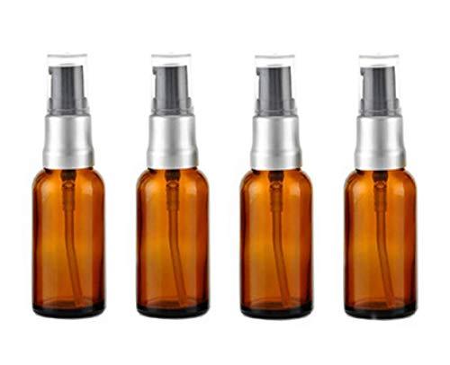 4 botellas cristal vacías 15 ml botellas loción