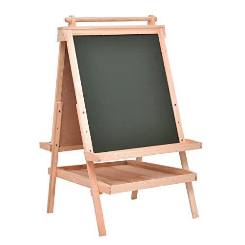 TimmyHouse Double Side Wooden Art Easel with Paper Roll All in One Kids Child Play Toy US