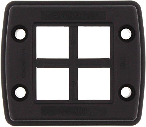 Conta-Clip 28602.4 Kabeldurchführung KDSClick, bestehend aus Rahmen und Inlay, Schwarz, KDS-Set 1-4 BK