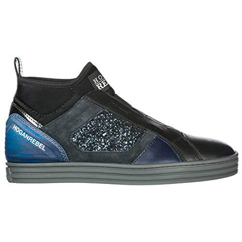 .Hogan Rebel Women r182 Slip-on Shoes Nero 5 US