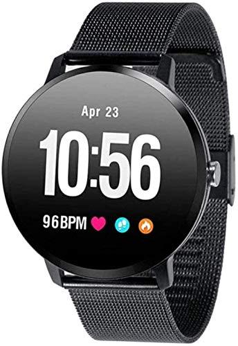Reloj Inteligente 1 3 Pulgadas Pantalla Fitness Tracker Deportes Podómetro Pulsera Personalizado Mensaje Push Recordatorio Inteligente IP67 Impermeable 110mAh-Negro/Acero