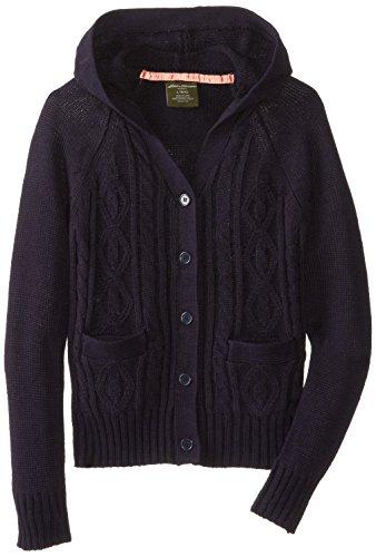 Eddie Bauer Girls' Big Sweater (More Styles Available), True Navy, 10/12