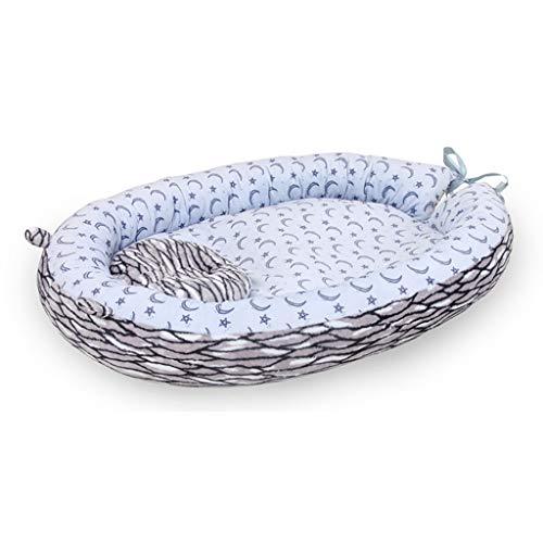 Vocheer Baby Bassinet Bed, Baby Lounger Bed Draagbare Slaapwieg Hoofd Ondersteuning Kussen Zachte Adem Matrassen voor Pasgeboren 0-8 Maanden
